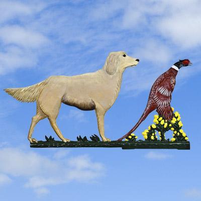 Golden Gun Dog & Pheasant Painted