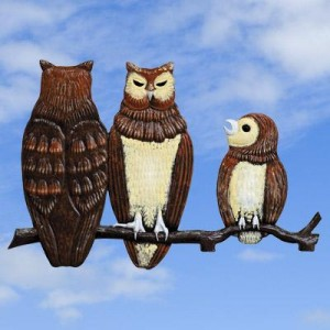 Owl Family Painted
