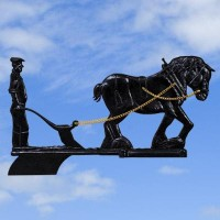 Horse & Plough Black