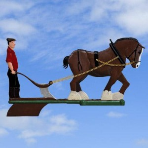 Horse & Plough Painted