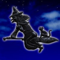 Witch & Cat Black
