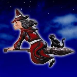 Witch & Cat Dark Red