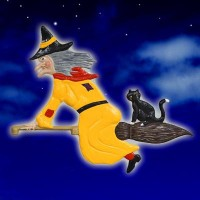 Witch & Cat Yellow
